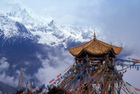 Praying Flags and Pavilion, Deqin, Lijiang Area, Yunnan Province, China by Keren Su - various sizes
