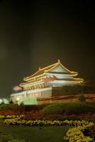 Night View of Tian An Men Tower, Beijing, China Fine Art Print