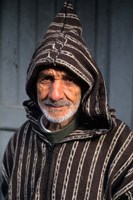 Portrait of Old Muslim Man, Tangier, Morocco, Africa by Bill Bachmann - various sizes