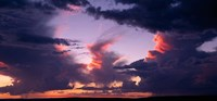 Namibia, Fish River Canyon, Thunder storm clouds Fine Art Print