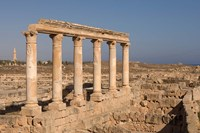 Columns, Sabratha Roman Site, Tripolitania, Libya Fine Art Print