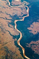 River flowing through land below, Madagascar by Keren Su - various sizes