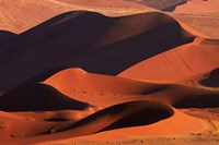 Sand dunes at Sossusvlei, Namib-Naukluft National Park, Namibia Fine Art Print