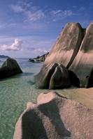 Rock Formations on Pointe Source d'Argent, Seychelles Fine Art Print
