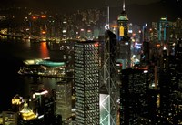 Skyscrapers of Victoria Harbor, Hong Kong, China by Charles Crust - various sizes