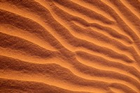 Sand Dunes Furrowed by Winds, Morocco Fine Art Print