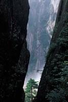 Sheer Cliffs on Mt Huangshan (Yellow Mountain), China Fine Art Print