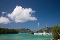 Seychelles, Praslin Island, Baie St. Anne bay by Walter Bibikow - various sizes
