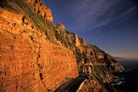 South Africa, Cape Peninsula. Chapmans peak drive cliffs Fine Art Print