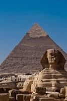 Sphinx and Pyramid, Giza, Egypt Framed Print