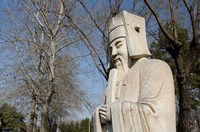 Statue, Changling Sacred Was, Beijing, China by Cindy Miller Hopkins - various sizes - $42.99