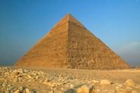 The Pyramids of Giza, the Nile, Cairo, Egypt Fine Art Print