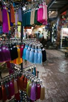 Tassles, The Souqs of Marrakech, Morocco by Walter Bibikow - various sizes, FulcrumGallery.com brand