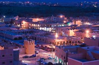 Night View of Town, Tinerhir, Morocco by Walter Bibikow - various sizes, FulcrumGallery.com brand