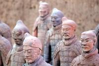 Terra Cotta Warrior Heads, Xian, Shaanxi, China Fine Art Print