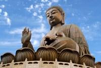 Tian Tan Buddha Statue, Ngong Ping, Lantau Island, Hong Kong, China Fine Art Print