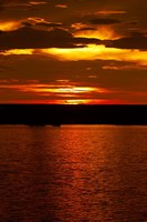 Sunset over Chobe River from Sedudu Bar,Kasane, Botswana, Africa Fine Art Print
