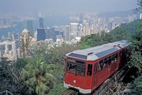 The Peak Tram, Victoria Peak, Hong Kong, China Fine Art Print