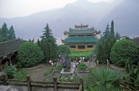 Temple of Quyuan, Three Gorges, Yangtze River, China by Keren Su - various sizes - $41.99