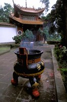 Temple and Incense Burning, Bamboo Village, Kunming, Yunnan Province, China by Bill Bachmann - various sizes - $42.49