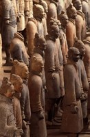 Terra Cotta Warriors at Emperor Qin Shihuangdi's Tomb, China Fine Art Print