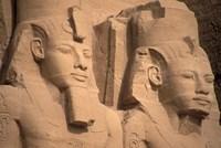 Statues of Ramses II, Abu Simbel, Egypt Fine Art Print