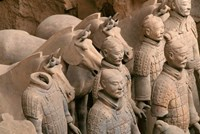 Terra Cotta Warriors and Horses at Emperor Qin Shihuangdi's Tomb, China Fine Art Print