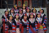 Tip-Top Miao Girls in Traditional Costume, China by Keren Su - various sizes