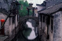 Stone Arch Bridge Over Grand Canal in Ancient Watertown, China by Keren Su - various sizes