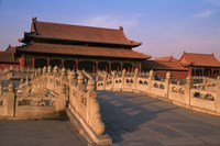Traditional Architecture in Forbidden City, Beijing, China Fine Art Print