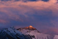Sunset on Mt. Everest, Tibet, China Fine Art Print