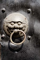 Village door with ornate lion knocker, Zhujiajiao, Shanghai, China by Cindy Miller Hopkins - various sizes