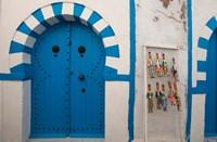 Tunisia, Cap Bon, Hammamet, Medina door by Walter Bibikow - various sizes