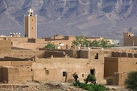 Traditional Houses Outside Zagora, Draa Valley, Morocco by Walter Bibikow - various sizes