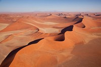 View of Namib Desert sand dunes, Namib-Naukluft Park, Sossusvlei, Namibia, Africa Fine Art Print