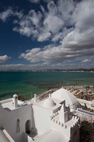 Tunisia, Cap Bon, Gulf of Hammamet from the Kasbah Fine Art Print