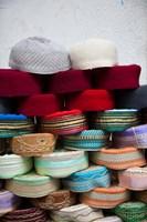 Tunisia, Grand Souq des Chechias, Market, Fez hats by Walter Bibikow - various sizes, FulcrumGallery.com brand