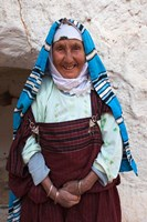 Tunisia, Ksour Area, Matmata, older Berber woman Fine Art Print