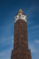 Tunisia, Tunis, Avenue Habib Bourguiba, Clock tower Fine Art Print