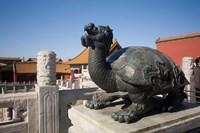 Turtle statue, Chinese symbol, Forbidden City, Beijing Fine Art Print