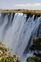 Victoria Waterfalls, Zambesi River, Zambia. Fine Art Print