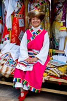 Withtibetan Traditional Clothing Display, Yunnan Province, China by Charles Crust - various sizes