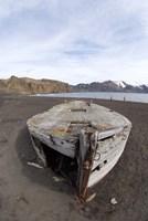 Wooden whaling boat, Deception Island, Antarctica Fine Art Print