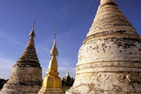Whitewashed Stupas, Bagan, Myanmar Fine Art Print