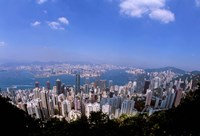 View of City from Victoria Peak, Hong Kong, China by Bill Bachmann - various sizes, FulcrumGallery.com brand