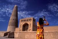 Uighur Girl Carrying Jar, Turpan, Xinjiang Province, Silk Road, China by Keren Su - various sizes