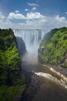 Victoria Falls and Zambezi River, Zimbabwe Fine Art Print