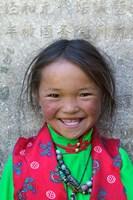 Young Tibetan Girl, Sakya Monastery, Tibet, China by Keren Su - various sizes