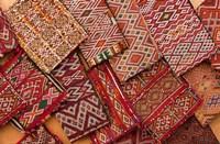 Woven Fabrics, Essaouira, Morocco Fine Art Print