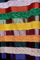 Colorful silk textiles, Fes, Morocco, Africa by Kymri Wilt - various sizes